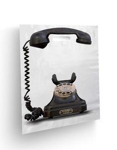 Kreativt og sjovt design til tele bærepose - Creative and funny idea for carrier bag