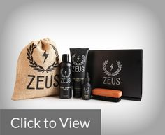 Zeus Beard Grooming Kit  Beard Shampoo (8 oz.) This beard shampoo is not just a cleaning agent but also a shampoo for keeping your beard hairs healthy, shiny and strong. It boasts a formula of anti-oxidants such as green tea, Dragon's blood and chamomile which works together to keep dandruff and itchiness away from your body.