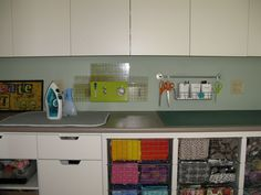 Quilting studio - ironing & cutting stations