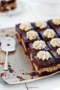 chocolate cake, dulce de leche buttercream & chocolate glaze