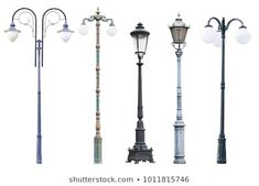 Similar Images, Stock Photos & Vectors of Lamp post collection - 102187369 Street Lamp Post, Outdoor Lamp Posts, Lantern Post, Lanterns, Photo Editing, Royalty Free Stock Photos, Display Ideas, Vectors, Pictures