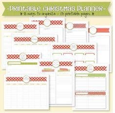 etsy :: printable holiday/christmas planner organizer