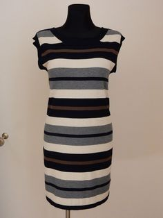 NEW! MAX MARA WEEKEND DRESS WOMEN SZ.M ITALY VISCOSE STRIPED AUTHENTIC  #MaxMara #Tunic #Casual