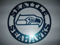 Seattle Seahawks Metal Sign (14 Inches in diameter) by SPORTSMETALARTWORK on Etsy