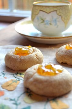 Brown Butter Thumbprint Cookies with Sweet Orange Marmalade - Karista Bennett Best Cookies Ever, Thumbprint Cookies, Baking And Pastry, Brown Butter, Marmalade, Something Sweet, Cookie Bars, Creative Food, Sweet Recipes