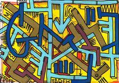 Planche originale de bande dessinée, galerie Napoléon  : STREET ART - G - Illustration originale par TAREK - Street Art -