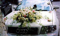 wedding car hood floral bouquets - Google Search