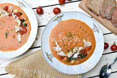 Hustá fazolová polévka s rajčaty inspirovaná Toskánskem | KořeníŽivota.cz Modern Food, Thai Red Curry, Cooking Recipes, Vegetarian, Meat, Ethnic Recipes, Food Recipes, Recipes