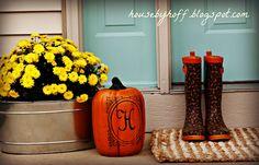 Monogrammed Pumpkin: House by Hoff