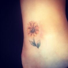 Watercolor Sunflower Tattoo Sunflower Tattoo By Tiffaney Read Tattoo  Me