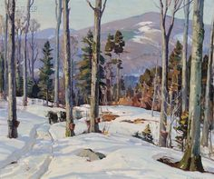 View Sugaring days by Aldro Thompson Hibbard on artnet. Browse upcoming and past auction lots by Aldro Thompson Hibbard. Winter Landscape, Landscape Art, Landscape Paintings, Winter Painting, Winter Art, Artist Painting, Painting & Drawing, Paintings I Love, Oil Paintings
