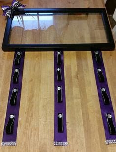 Cheer bow holder with frame:) Cheer Stunts, Cheer Dance, Cheerleading, All Star Cheer, Cheer Mom, Youth Cheer, Dance Crafts, Homemade Pictures, Bow Hanger