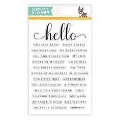 CZ Design Clear Stamps HELLO YOU CZ08 zoom image