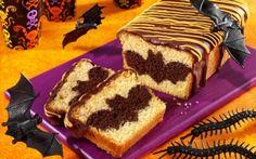 Yummy halloween bat cake