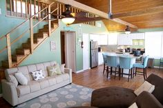 Beautiful remodeling job on this old Beach Cabin Rental!  The kids will love that loft!