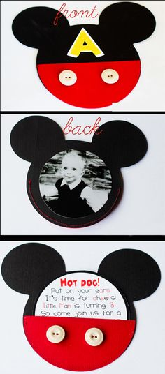 Mickey Mouse Birthday Invitations I Made This Pinterest