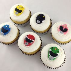 who's pumped for the new power rangers movie? Power Ranger Cupcakes, Power Ranger Cake, Power Ranger Party, Power Rangers Movie, Go Go Power Rangers, Kid Cupcakes, Custom Cupcakes, Birthday Parties, Birthday Cake
