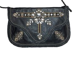 NIGHT CRYSTAL CLUTCH : Geniune leather wallet with center crystalL bead work. Geometric pattern with glass bead .  Whip stitch border finishing around the clutch. Can be used as a cross body bag too!  YKK brass zip pocket inside. With magnetic closure. #Clutches #Satchel  #HandBag #purse #Clutchonline #LeatherBags #Gifts  #GiftsIdeas #Shoulderbag  #handbags #handbagseller #hobobag #Hobos #CrossBody #Handbags #LeatherWallets #WomensFashions #embroidery #bags