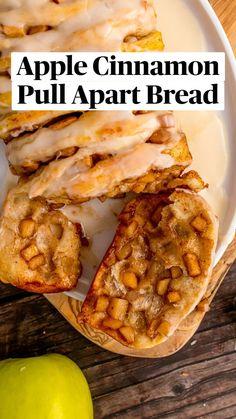 Apple Recipes, Fall Recipes, Baking Recipes, Bread Recipes, Brunch Recipes, Breakfast Recipes, Dessert Recipes, Cinnamon Pull Apart Bread, Just Desserts