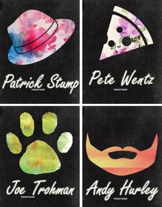 Patrick is a hat guy.Patrick loves pizza!Joe's a pet guy.And Andy loves his beard.