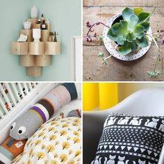 DIY ideas from DIY or DIE at Swedish ELLE Decor.     The left corner shelves is to cool.