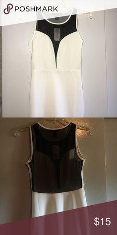 d2253bef421 White with black mesh mini dress NWT bought this and it s just been sitting  in my