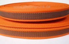 gummiertes Gurtband in orange als Meterware