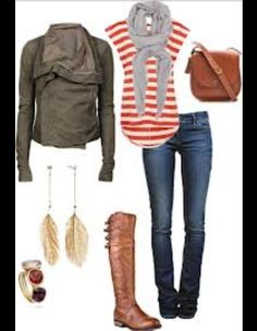 like the candy cane stripes, and who would say no to a moto jacket?