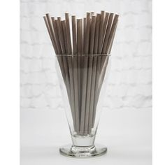Solid Gray paper straws