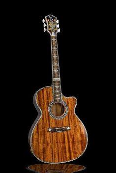 Minarik custom koa acoustic guitar.