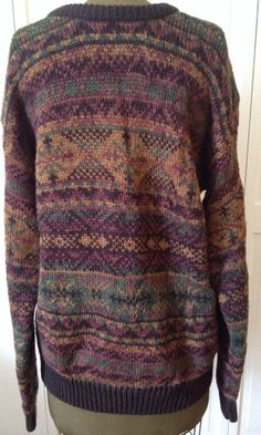 Mens Vintage Fair Isle Sweater 80s/90s by NorthCountryClassics, $26.00