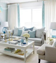 Living Room Decor Turquoise Lowes Furniture Coastal Design Inspiring Home Designs Diys Olivia Lauren Interior Swap Out The Second Chair For A Wider Lower Comfier Reading