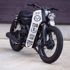 Honda Cub, Cafe Racer Honda, Cafe Racer Bikes, Scooter Motorcycle, Cafe Racer Motorcycle, Honda Bikes, Honda Motorcycles, Vintage Bikes, Vintage Motorcycles