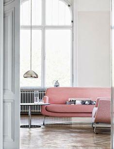 Un canapé rose