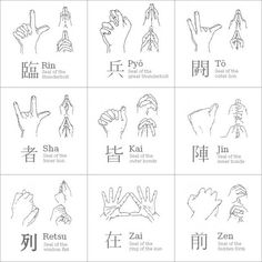 Kuji-in meditations. (Ninjutsu Mudras) (when mastered chi gong/chi flow that runs through the human body and mix it with the mudra signs above you can do superhuman things that were only thought to be in tv shows and games) Martial Arts Quotes, Best Martial Arts, Martial Arts Styles, Martial Arts Techniques, Martial Arts Workout, Boxing Workout, Arte Ninja, Ninja Art, Karate Shotokan