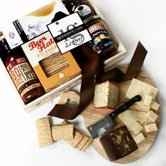 Cheese Specialty Food Gourmet Gift Baskets Cheese Gifts Gourmet Gift Baskets, Gourmet Gifts, Food Gifts, Gourmet Recipes, Gourmet Foods, Gifts For Beer Lovers, Beer Gifts, Charcuterie Gifts, Gift Crates