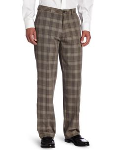 Haggar Men's Broken Glen Plaid Straight Fit Flat Front This haggar broken glen plaid straight fit flat front pant comes with an invisible flex waistband for added comfort Mens Dress Pants, Men Dress, Men's Pants, 1940s Mens Fashion, Vintage Fashion, Glen Plaid, Vintage Inspired Outfits, Mens Style Guide, Mens Clothing Styles