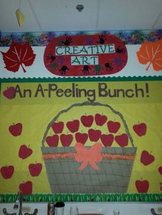 Fall, apple bulletin board