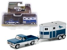 1972 Ford F-100 and Horse Trailer Hitch & Tow Series 9 1/64 Diecast Model Car by Greenlight - Brand new 1:64 scale car model of 1972 Ford F-100 and Horse Trailer Hitch & Tow Series 9 die cast car model by Greenlight. Limited Edition. Detailed Interior, Exterior. Metal Body. Comes in a blister pack. Officially Licensed Product. Dimensions Approximately L-7 Inches Long.-Weight: 2. Height: 6. Width: 11. Box Weight: 2. Box Width: 11. Box Height: 6. Box Depth: 6