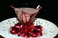 Boston Creme Pie Martini (2 tablespoons chocolate syrup   2 oz bailey's irish cream   1 oz vanilla vodka   1 oz Creme de Cacao)