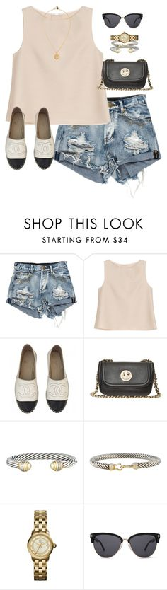 """out & about"" by daniellekenz ❤ liked on Polyvore featuring ADAM, Chanel, Hill & Friends, David Yurman, Tory Burch, Tom Ford, women's clothing, women's fashion, women and female"