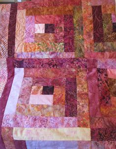 Lap Quilts Bali Batiks in Cherry 2  Reserved by QuiltsintheCity, $310.00