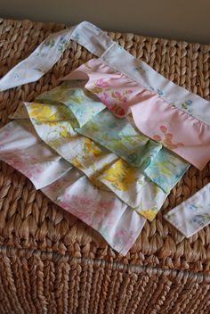 vintage sheet girls apron