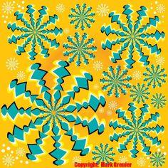 Optical Illusion Pictures - Page 3 Eye Tricks, Mind Tricks, Snowflake Photos, Snowflakes, Op Art Lessons, Optical Illusions Pictures, Mind Puzzles, Illusion Pictures, Art Optical