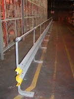 HD Sprung Barriers with Hand Rail, Fork lift & Podestrian protection