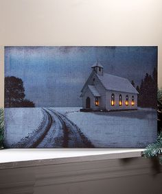 Look what I found on #zulily! Stained Glass Church Lighted Canvas #zulilyfinds