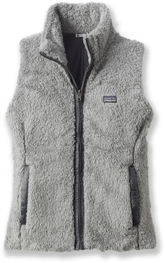 Patagonia grey fleece vest