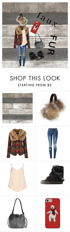 """faux fur"" by madyluv64 ❤ liked on Polyvore featuring Overland Sheepskin Co., Joe Browns, WithChic, Alice + Olivia, D.A.T.E. and Trussardi"