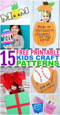 All of our free printable crafts and activity templates in one place! Easy printable crafts — everything from printable Thanksgiving crafts, to paper pop-up cards, Christmas cards, and more! Mother's Day Printables, Printable Crafts, Printable Templates, Printable Tags, Paper Crafts For Kids, Preschool Crafts, Preschool Ideas, Christmas Treat Bags, Christmas Cards