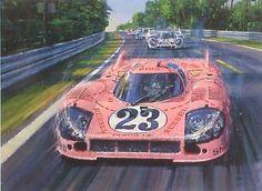 "Nicholas Watts — 1971 Porsche ""The Pink Pig"" Can Am, Le Mans 24, Porsche Motorsport, Porsche 9, Pretty Cars, Ferrari, Car Drawings, Sport Cars, Race Cars"